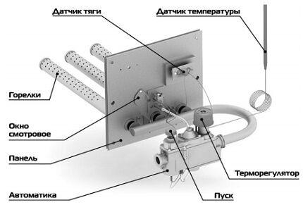 Газовая горелка в комплекте с автоматикой