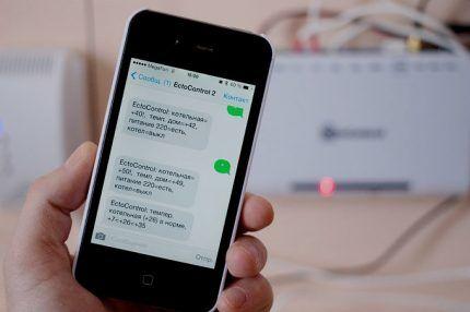 Сообщения СМС на смартфоне