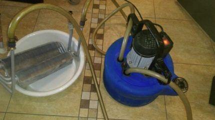 Промывка битермического теплообменника