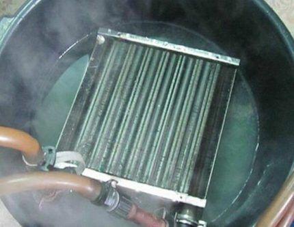 Очистка теплообменника кипячением