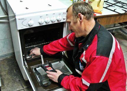 Обслуживание газовой духовки
