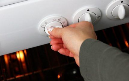 Розжиг газовой духовки