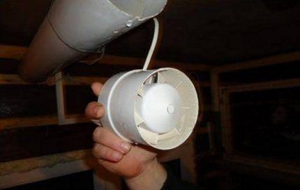 Канальный осевой вентилятор