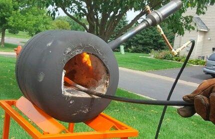 Самодельный вариант горна с газовой горелкой