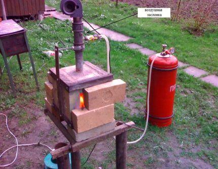 Кузнечное оборудование на баллонном топливе