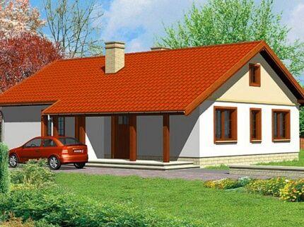 Одноэтажное жилое здание для одной семьи