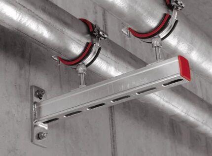 Прокладка воздуховодов с помощью кронштейнов