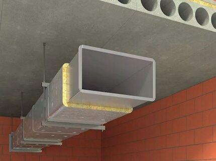 Теплоизоляция системы воздуховодов
