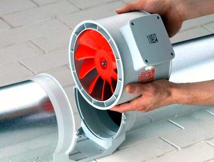 Канальный вентилятор для воздуховодов