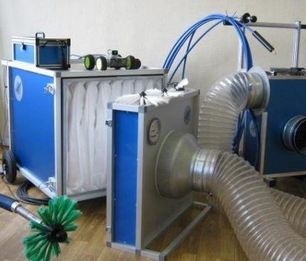 Оборудование для чистки воздуховодов