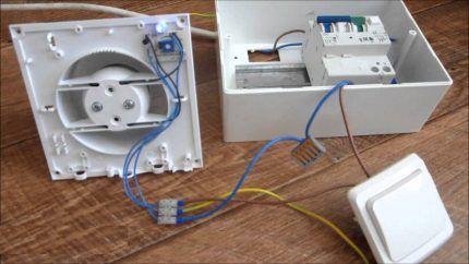 Подключение вентилятора к электричеству