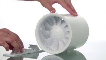 Бесшумный приточный вентилятор