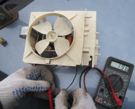 Проверка электрики прибора мультиметром