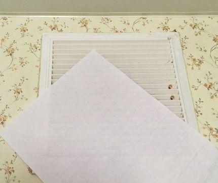 Проверка тяги листом бумаги