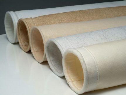 Фильтровальные рукава из различных материалов