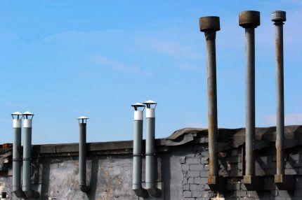 Вентиляционные грибки - зонтики и дефлекторы
