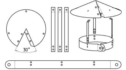 Эскизы заготовок для изготовления грибка на вентиляцию
