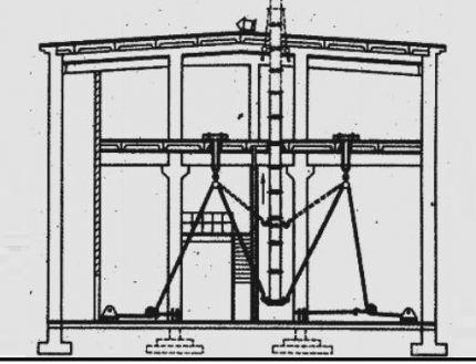 Устройство вертикальных воздуховодов