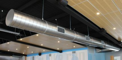 Подвесной вентиляционный канал