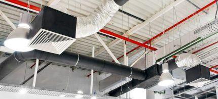 Двойные подвески для фиксации воздуховодов