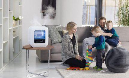 Увлажнение воздуха в детской