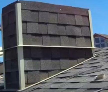Боковое оформление гидроизоляции вентиляционного короба