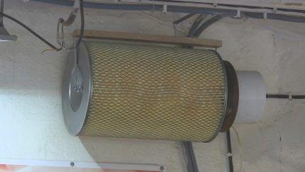 Пылеуловитель из фильтра
