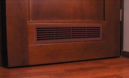 Вентиляционные отверстия в межкомнтаной двери