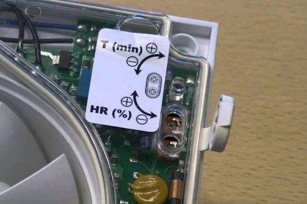 Плата управления вентилятора с гигрометром