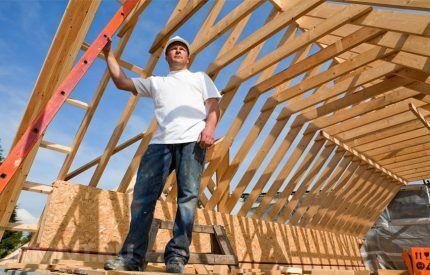Стропильная конструкция крыши дома