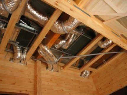 Механическая система вентиляции частного дома