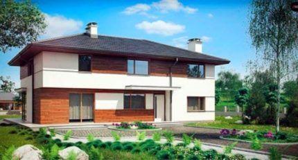 Двухэтажный дом с системой вентиляции