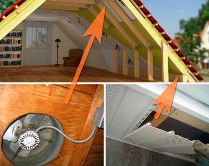 Варианты вентиляции обустроенной мансарды дома