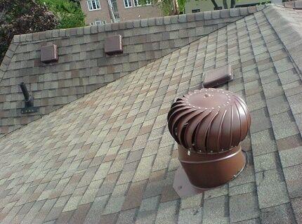 Турбинный аэратор на крыше