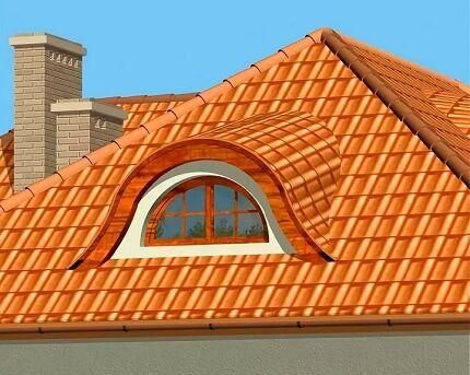 Слуховое окно в вальмовой крыше