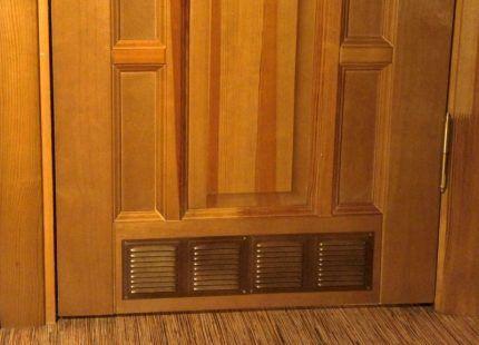 Вентиляционные отверстия в дверях