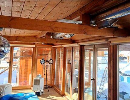 Генерирующее тепло оборудование в деревянном доме