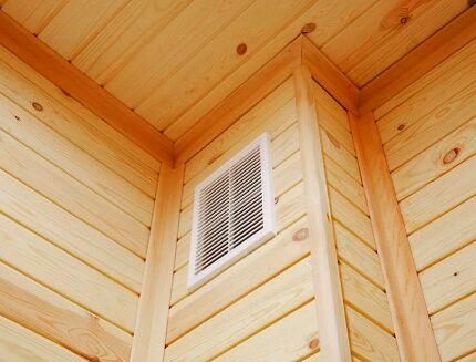 Вентиляционная шахта в деревянном доме