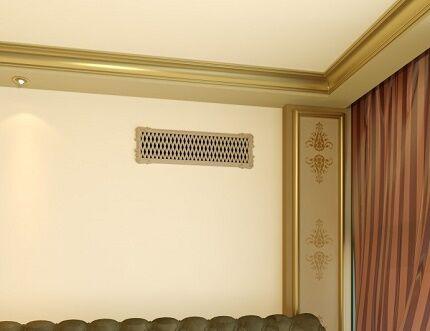Канальная вентиляция за фальшь-стеной