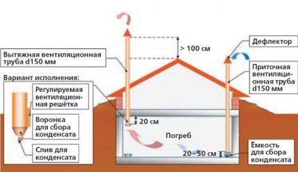 Вентиляционная система овощехранилища