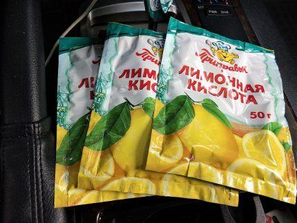 Пакетики с лимонной кислотой