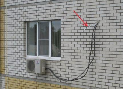 Дренаж кондиционера на улицу