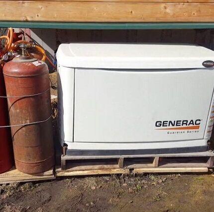 Газогенератор установлен на улице