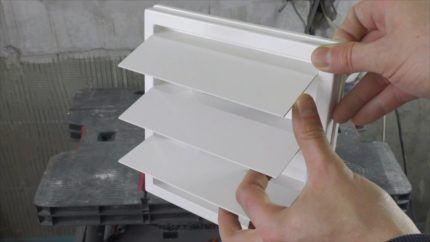 Инерционный клапан для вентиляции