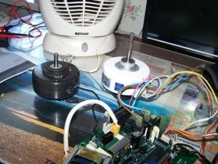 Замена двигателя вентилятора