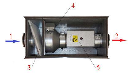 Приточная вентиляционная установка в комплексе