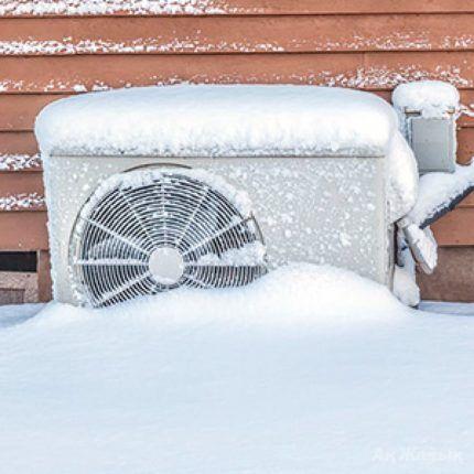 Кондиционер в снегу