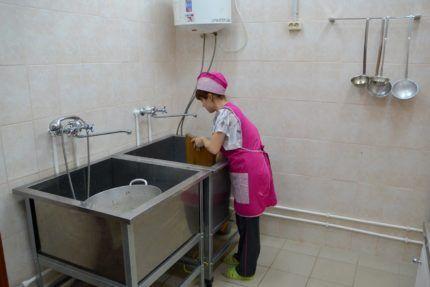 Важность контроля уровня влажности в моечных пищеблока.
