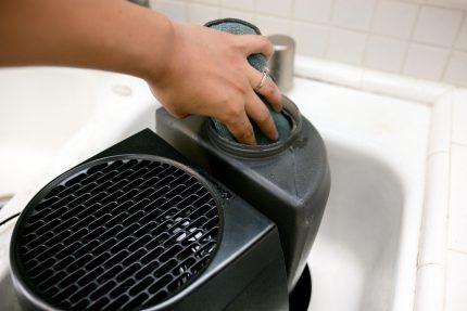 Мытье увлажнителя воздуха