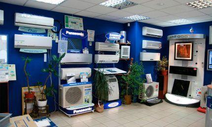 Витрина магазина климат-систем